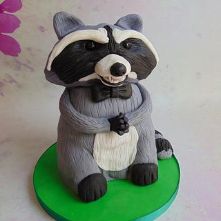 Evil Raccoon with a bow tie
