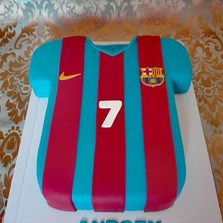 F.C.B. shirt - Cake by Bake My Day