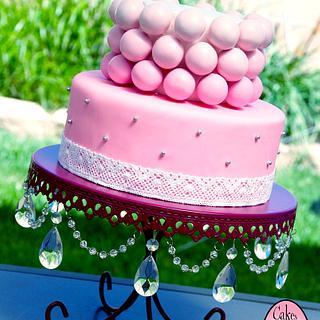 Ombre cake pop cake