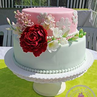 Magnificent Grandma Birthday Cake 16 Cakes Cakesdecor Personalised Birthday Cards Bromeletsinfo