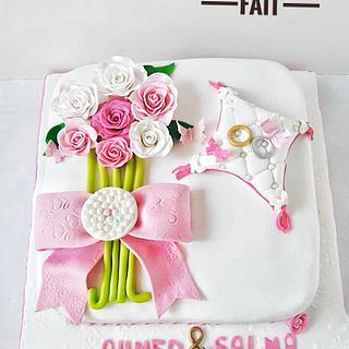 Engagement white cake