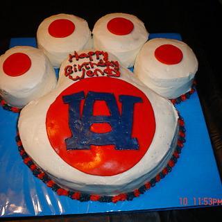 Auburn Tiger Paw cake - Cake by Dana