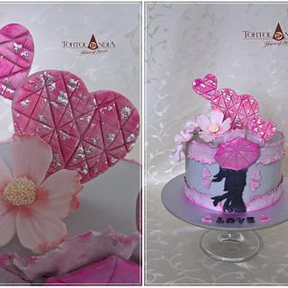 "Romantic ""love"" cake"