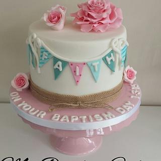 My first baptism cake (not my design)  xx