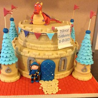 Mike the Knight christening cake