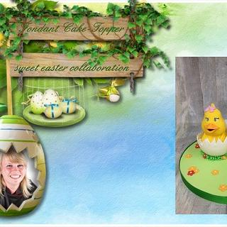 Fondant Cake Topper Sweet Easter Collaboration - Chickies  - Cake by Kaatje Fondant