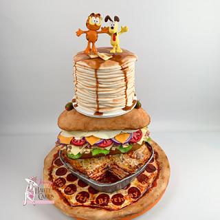 Garfield Loves Food! - Cake by Jenny Kennedy Jenny's Haute Cakes