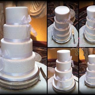 4 tiers white on white