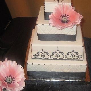 Black and White Wedding Cake  - Cake by cakesbymary