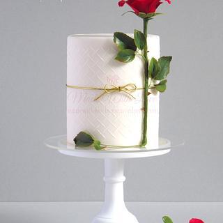 Rose Stem Valentine Cake