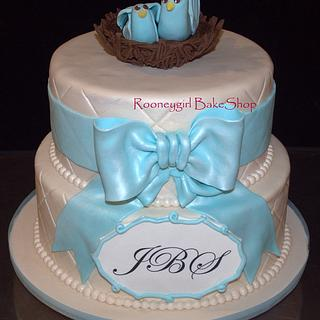 Bird's Nest Baby Shower Cake
