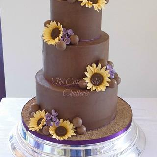 Sunflowers and Ganache - Cake by The Cake Lady (Tracy)