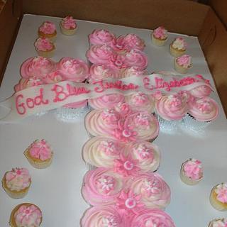 Cupcake Cross Pullaway Cake - Cake by Karen Hearty