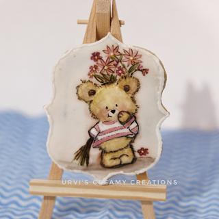 Teddy bear cookie - Cake by Urvi Zaveri