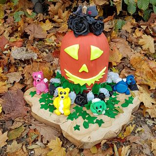 Halloween Collaboration ... trick or treat - Cake by Chantal den Uyl