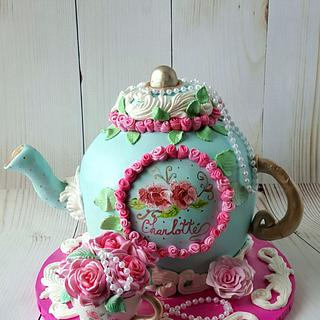 Vintage teapot and tea cup