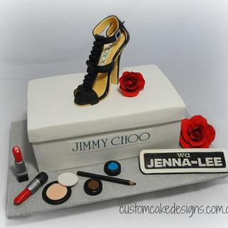 Jimmy Choo Shoebox Cake - Cake by Custom Cake Designs