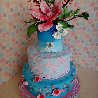 Chinoiserie Style Cake