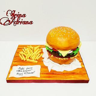 Burger Cake - Cake by Irina-Adriana