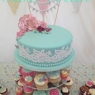 Vintage Just Married by Cherub Couture Cakes