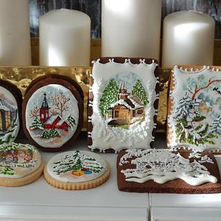 Christmas Hand Painted Cookies - Cake by Albena