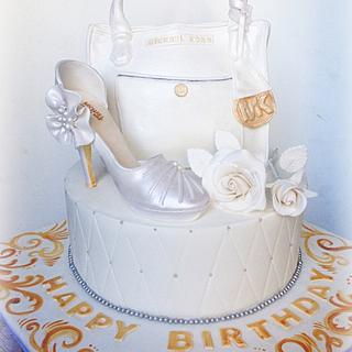 Mk bag and shoe cake