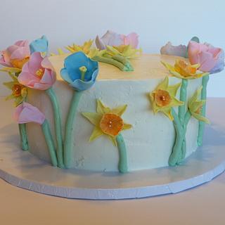 Spring flowers - Cake by Marcia Hardaker