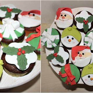 Christmas cupcakes - Cake by Cakes by Evička