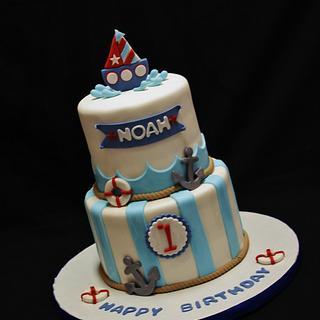 Nautical Cake - Cake by CakeCreationsCecilia