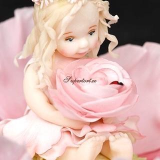 Girl on the flower