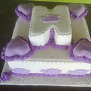 Purple 'N' cake - Cake by Bisi Akanbi