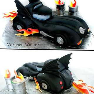 Dark Knight Car 3D Cake