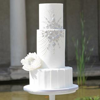 Jewelry wedding cake