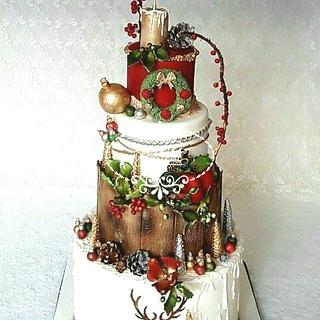 A Christmas  birthday cake - Cake by Fées Maison (AHMADI)