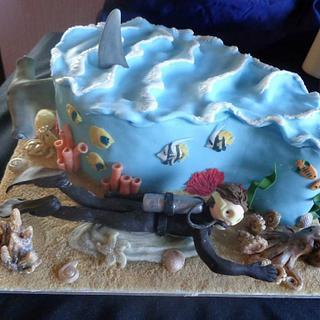 Scuba Diving Cake - Cake by Zoe White