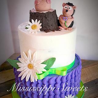 Owl Hedgehog Cake