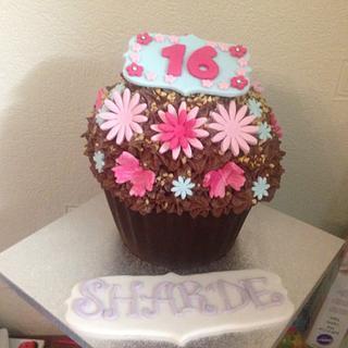 16th Birthday Giant Cupcake