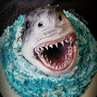 Shark attack! - Cake by Brittani Diehl