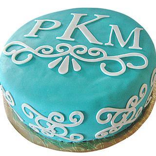 Monogram Bridal Shower Cake
