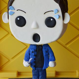 Dean Winchester supernatural Bobblehead cake  - Cake by SugarBritchesCakes