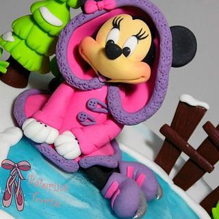 Minnie Mouse Winter Cake - Cake by Balerina Torte