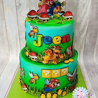 Super Mario cake / taart - Cake by Sam & Nel's Taarten