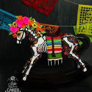 Rocking Horse - Day of the Dead - Dia de Muertos 3D Cake