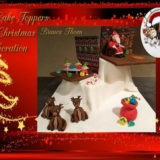 Sweet christmas collaboration- The north pole  - Cake by Fondanterie