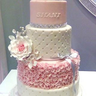 Silver Tiara 21st Birthday Cake