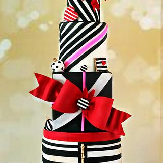 Christmas glamourous cake