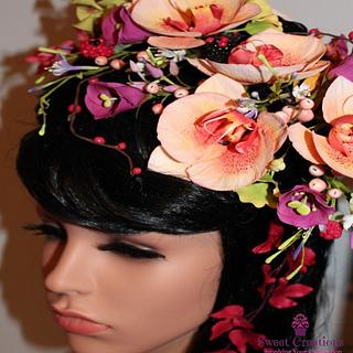 Belle Floral Headdress