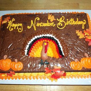 Turkey Brownie - Cake by Jennifer C.