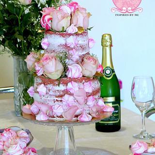 Pink velvet naked cake - Cake by Cakes Inspired by me