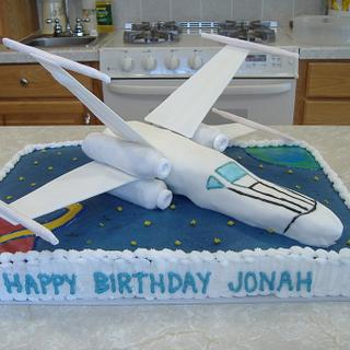 Star Wars X-Wing Fighter - Cake by Judy Remaly